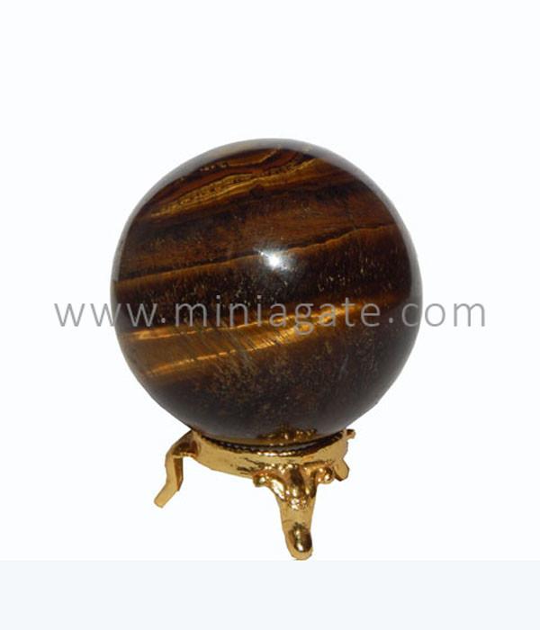 Tiger Agate Stone Sphere