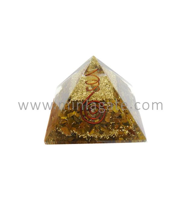 Tiger Eye Orgone Pyramid